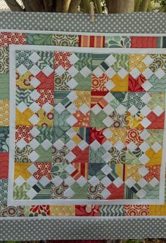 """The pattern is called Reveille and is from the book """"Another Bite of Schnibbles"""". Fabric Salt Air - moda"""