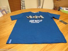 Boys youth LRG brand T shirt premium fit L gibson blue show us what you got RARE
