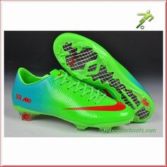 2014 World Cup Nike Mercurial Vapor 98 FG Fluorescent Green Escort Soccer Shoes