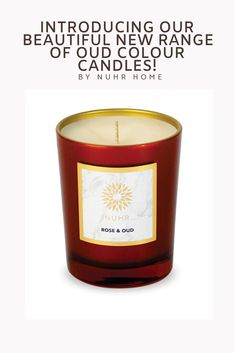 2d5b227329a7 LIMITED EDITION Red and Gold Rose and Oud Candle Our limited edition colour  range is designed