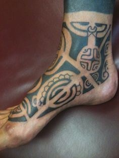 Marquesan Foot Tattoo by Dave Rodriguez