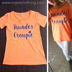 Neon orange Thunder Groupie tee tri-blend super soft wide scoop neck loose/long fit $28 w/ free shipping www.royceclothing.com s.m.l