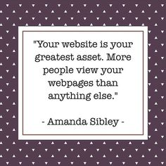 """Digital Marketing Quote of the day:⠀ ⠀ """"Your website is your greatest asset. More people view your webpages than anything else."""" - Amanda Sibley -⠀ ⠀ ⠀ #content #contentmarketing #contentstrategy #writers #blogdesign #wordpress #contentmarketingtips #visualcontent #infographic #infographics #interview #photo #photography #design #branding #hotelmarketing"""
