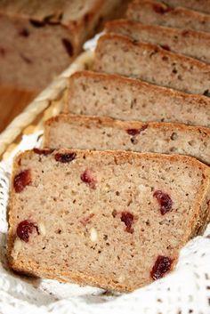 Chleb żytni 100% (na zakwasie, z żurawiną i słonecznikiem) | sio-smutki! Monika od kuchni