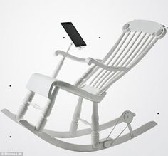 Rocking chair which charges your iPad