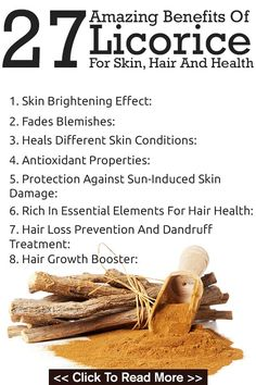 Natural Remedies For Skin 27 Amazing Benefits Of Licorice For Skin, Hair And Health - Licorice root is particularly known to improve gastrointestinal health, in addition to offering numerous other benefits. Read on to know all its benefits. Diabetes, Natural Cures, Natural Health, Natural Face, Calendula Benefits, Coconut Health Benefits, Hair Health, Herbal Remedies, Recipes