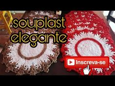 Souplast elegante - YouTube Diy Crochet, Crochet Doilies, Crochet Hats, Pattern Design, Crochet Earrings, Crochet Patterns, Make It Yourself, Christmas Ornaments, Holiday Decor