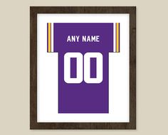 Minnesota Vikings print  Jersey Design   by CSportImages on Etsy