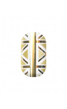 Gold Lightning Union Jack Minx Nails