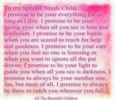 A lovely letter to special needs child