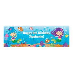 Personalized+Mermaid+Banner+-+OrientalTrading.com