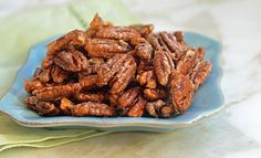 "My husband calls these candied pecans ""crack nuts"" because they're madly addictive. They're perfect to serve with cocktails, toss over salads or just keep around the house over the holidays. They also make a delicious homemade gift.  The best part? You only need four simple ingredients to make them — and if you start right now, you'll be …"