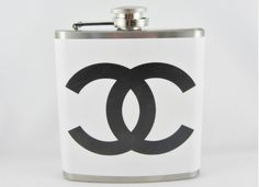We'll drink to that. @Carrie Kraft I think this was made for you #chanel #flask #rideordie
