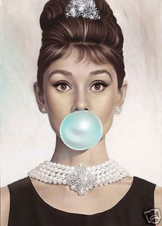AUDREY HEPBURN * QUALITY CANVAS ART PRINT in Home & Garden, Home Décor, Posters & Prints | eBay