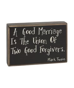 Loving this 'A Good Marriage' Box Sign on #zulily! #zulilyfinds