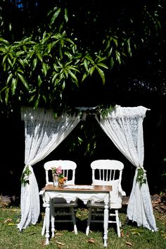 Lace wedding arch - vintage weddings and props hervey bay - Vintage Romance