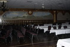 During our paranormal investigation at the Lafayette Hotel we captured a mist moving across the room in the dining hall Lafayette Hotel, Emergency Lighting, Paranormal, Investigations, Mists, Dining, The Originals, Room, Bedroom