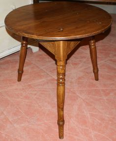 Pine Cricket Table-Early 19th C pine cricket table. 1830.