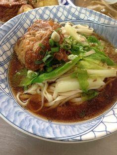 pork cartilage noodle soup   Taiwanese food