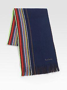 Paul Smith  Multi-Striped Wool Scarf