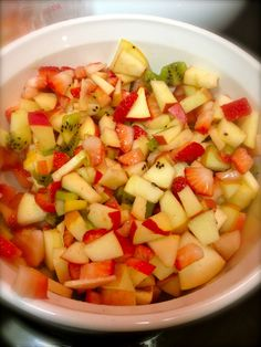 Fruit Salsa and mixed with Dove Chocolate Discoveries White Chocolate Raspberry Vinegaratte.   Www.mydcdsite.com/JosephineHarbaugh