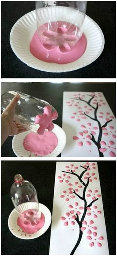 9 Best Spring Craft - how awesome is this DIY soda bottle painting?! More craft and DIY ideas on Dagmar's Home, DagmarBleasdale.com