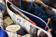 Adding a Divider Pocket to a big tote bag via Things for Boys