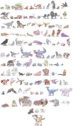 Non-Arthropod Invertebrate Pokemon by DragonlordRynn on DeviantArt Pokemon Na Vida Real, Pokemon In Real Life, Hunter Pokemon, Pokemon Sketch, Pokemon Pokedex, Pokemon Funny, Pokemon Pictures, Creature Design, Pokemon Cards