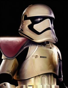 First Order Trooper - by Brian Rood<br>giclee on canvas