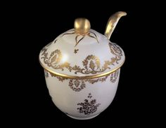 Antique Jam Jar Porcelaine De France French Porcelain Gold