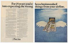 A 1972 ad promoting the depth of Pan Am's experience & world wide network.