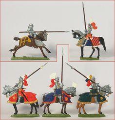 German Tin Flats 15th Century Tournament Knights   eBay