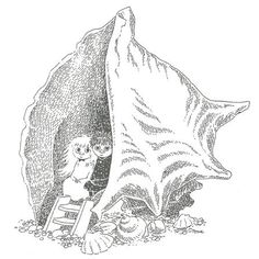 Miffle and Toffle from Tove Jansson's picture book Who will comfort Toffle? Moomin Valley, Tove Jansson, Children's Book Illustration, Gravure, Ghibli, Cute Art, Art Inspo, Fairy Tales, Art Drawings