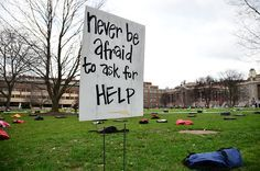The Syracuse University chapter of Active Minds, a national organization that promotes mental health, hosted the 'Send Silence Packing' installation on The Quad last year. The event aimed to bring awareness to suicide on college campuses.