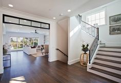 GREAT TRANSOM & RAILING....Family Home with Transitional Interiors