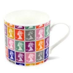 #GiftRepublic. Coloured #Stamp Bone China #Mug