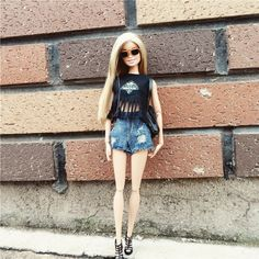 same as me#handmade #vest #Tshirt #shorts #shoes #barbiestyle #barbies #dollclothes #barbieclothes #totallook #dailylook #streetstyle #dollfashion