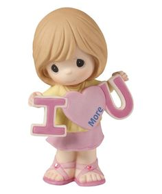 Loving this Girl Holding I Heart U More Figurine on #zulily! #zulilyfinds