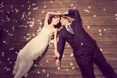 Bride and Groom on the floor. Want to do this at the DeTurk Round Barn!