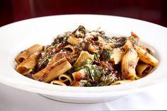 Bellisio's rigatoni balsamico Italian Village, Rigatoni, Japchae, Italian Recipes, Restaurant, Ethnic Recipes, Food, Meal, Diner Restaurant