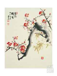 Asian Traditional Painting Art Print by WizData at Art.com
