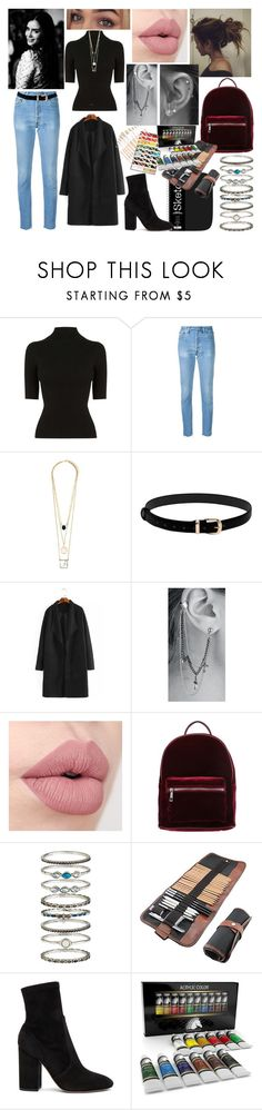 """-"" by nothing-better-than-a-riddle on Polyvore featuring Oasis, RE/DONE, even&odd, Accessorize, Valentino and Studio 36"