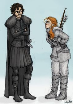 You Know Nothing, Jon Snow by meabhdeloughry.deviantart.com on @deviantART. Ygritte [GAME OF THRONES]