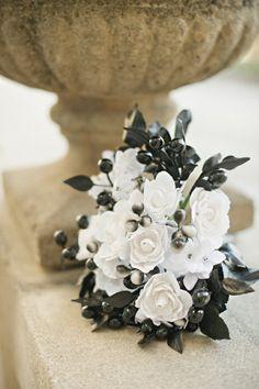 black + white bouquet