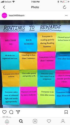 Start of a new school year Class Incentives, Student Rewards, Classroom Rewards, Future Classroom, School Classroom, Classroom Ideas, Behavior Management, Classroom Management, Class Management