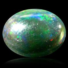 Black Opals 181110: 1.64 Ct Aaa Mind-Boggling Oval Cabochon Shape (10 X 8 Mm) Black Opal Gemstone -> BUY IT NOW ONLY: $34.99 on eBay!