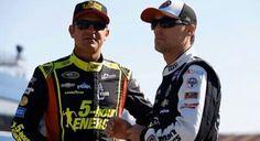 Clint Bowyer and Kevin Harvick at Michigan