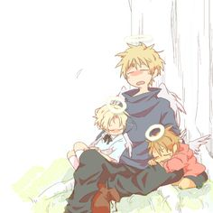 Arthur and his little ones <3