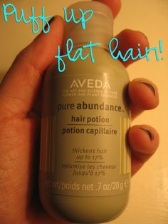 One of my must have products for fine hair that wants a pick me up!  Pure Abundance Hair Potion a.k.a the Magic potion!