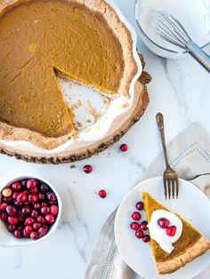 Just because you're on a healing diet like AIP doesn't mean you can't have a delicious, creamy pumpkin pie! Nut-free, Paleo, and amazing.